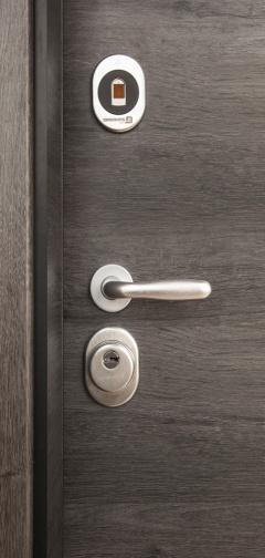Блиндирана врата Diadoors с електромеханична брава Abloy
